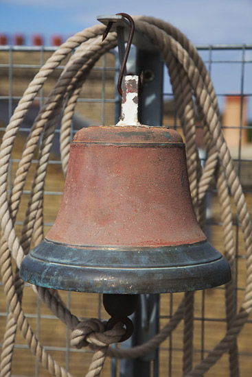 old ships bell and rope